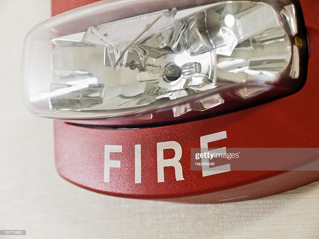 Fire Alarm Strobe Light : Stock Photo