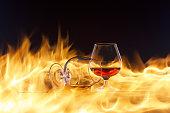 Fire whiskey Studio Tallinn Estonia Cognac Light