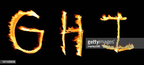 Feuer alphabet GHI