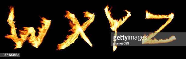 fire alphabet WXYZ
