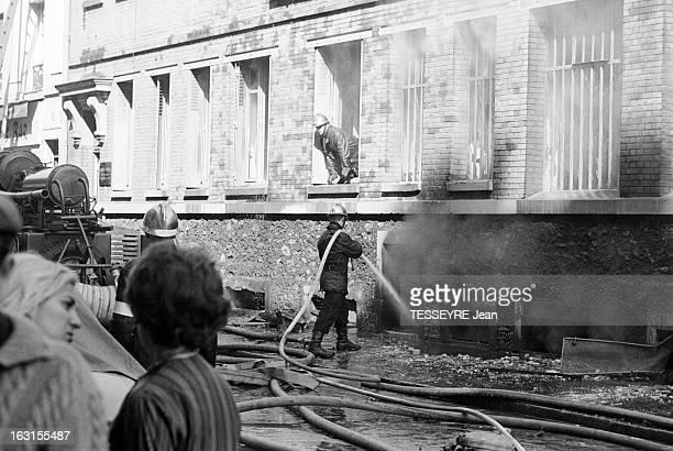 Fire At 'Dixor' And 'France Bazar 'In Paris A Paris le 2 juillet 1964 Un incendie ravage les entreprises 'Dixor' et 'France Bazar' rue du Sergent...