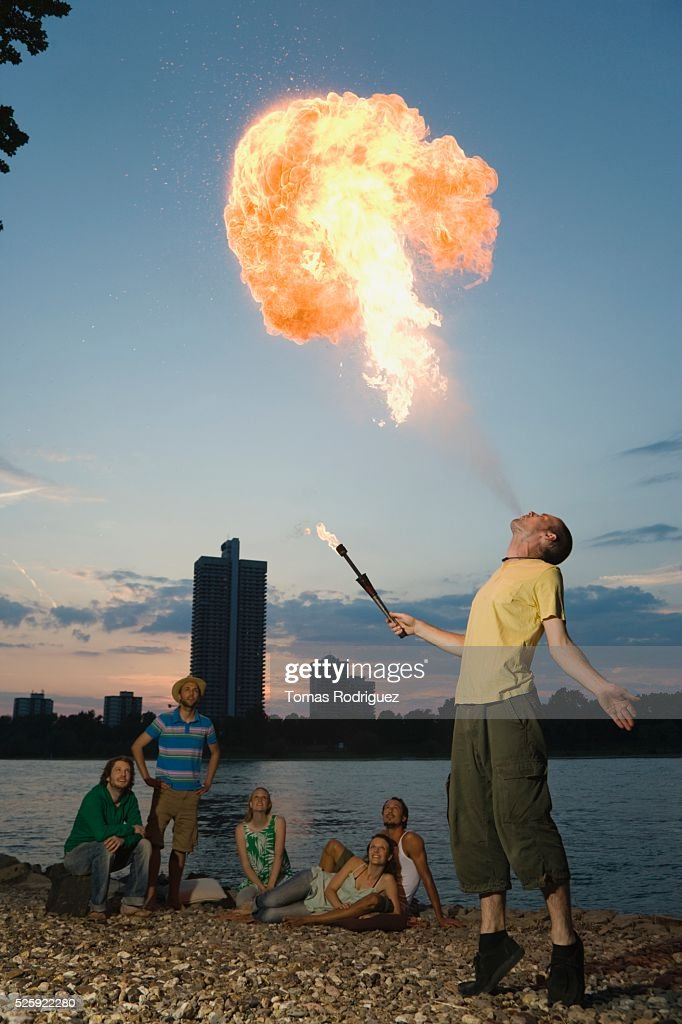 Fire Breather : Stock Photo