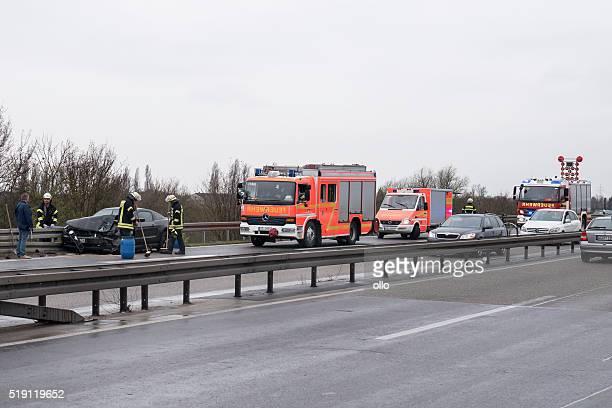 Feuerwehr Unfall Autobahn