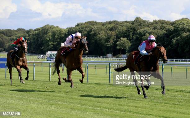 Fire Brigade ridden by Daniel Tudhope wins the Betfred Racing 'Like Us On Facebook' Handicap Stakes during Betfred Rose of Lancaster Stakes Ladies...