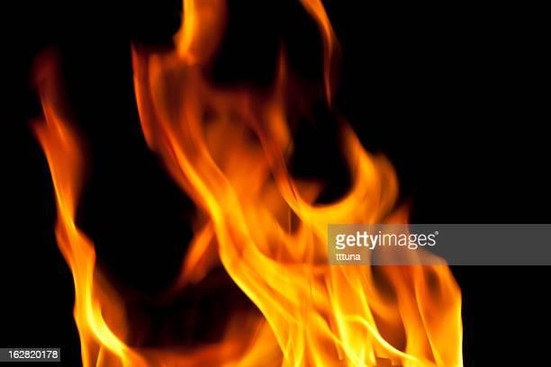 抽象、暖炉の炎を燃やす、黒色の背景