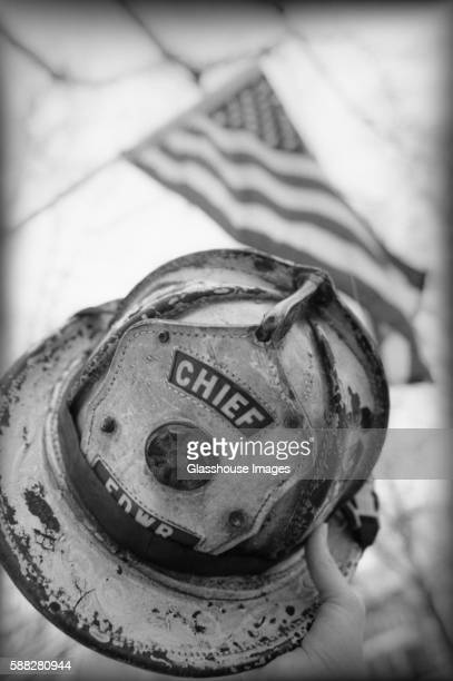 Fire Chief Hat and Flag