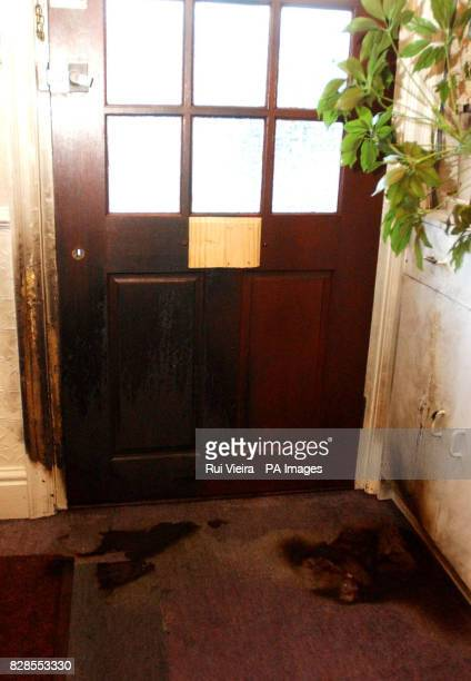 Fire damage caused by arson attack at the home of a firefighter in Kenilworth Warwickshire Detectives investigating a suspected arson attack on the...
