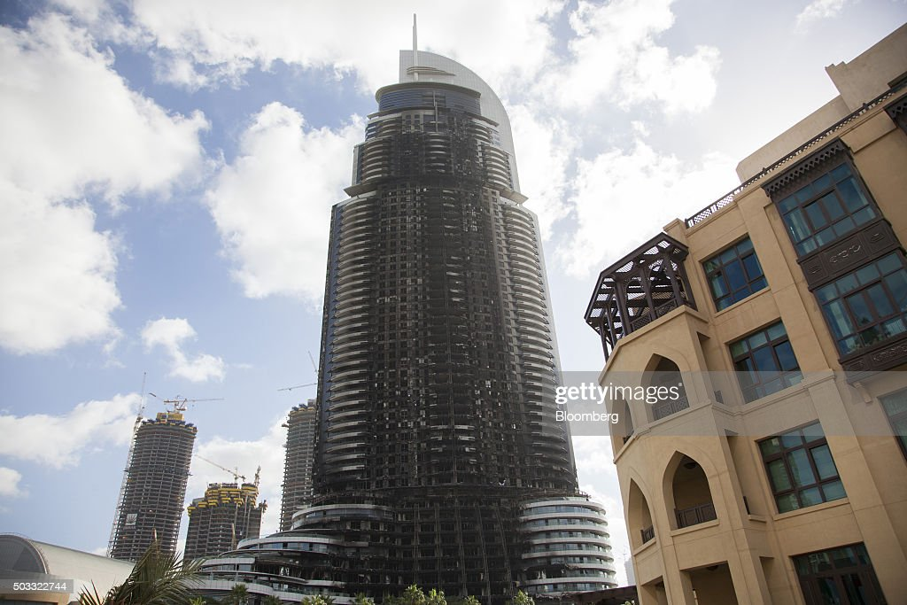 The fire damaged address downtown dubai getty images for Address hotel dubai