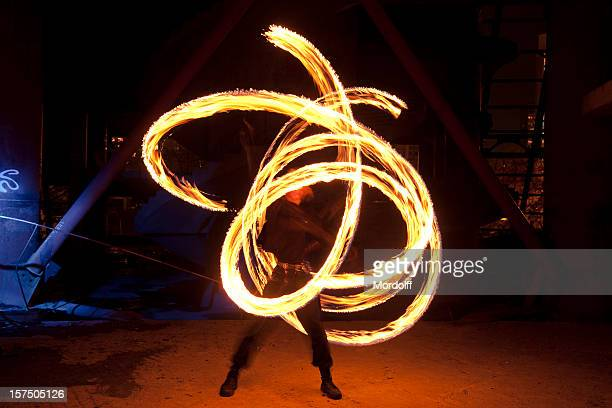Fire Dancer in motion