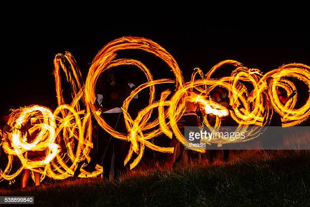 Fire Dancers at the Beltane Fire Festival, Edinburgh