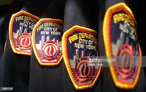 Fire Department sweathshirts are up for sale at the 'Fire Zone' July 24 2001 in New York City The permanent exhibit provides visitors with a...