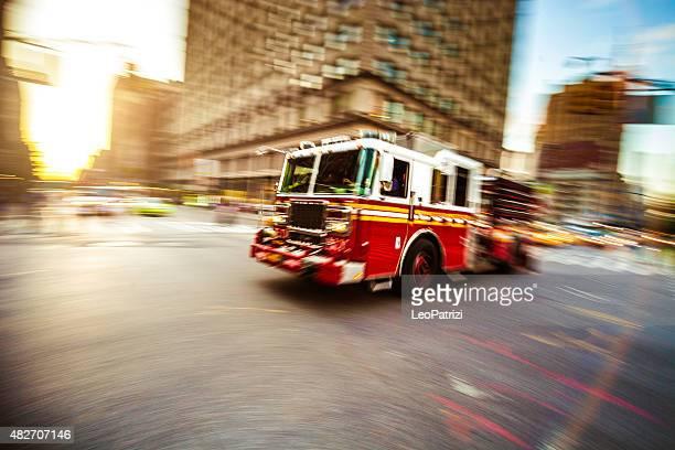 Feuerwehr LKW im Notfall