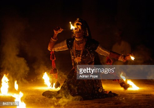 Fire eater in Rajasthan India