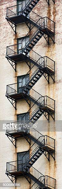 Fire Escape On Side Of Apartment Building