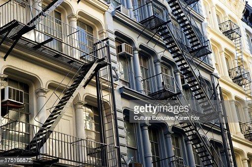 Fire Escape New York City 1940s : Fire escapes in soho manhattan new york city usa stock
