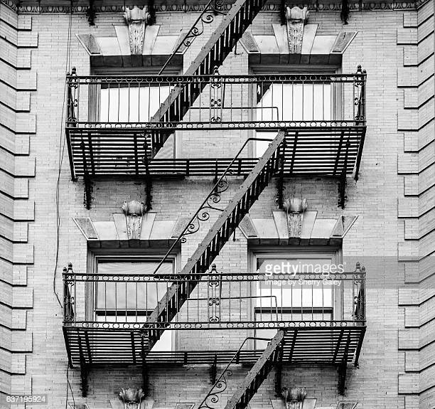 Fire Escape New York City 1940s : Lintel stock photos and pictures getty images