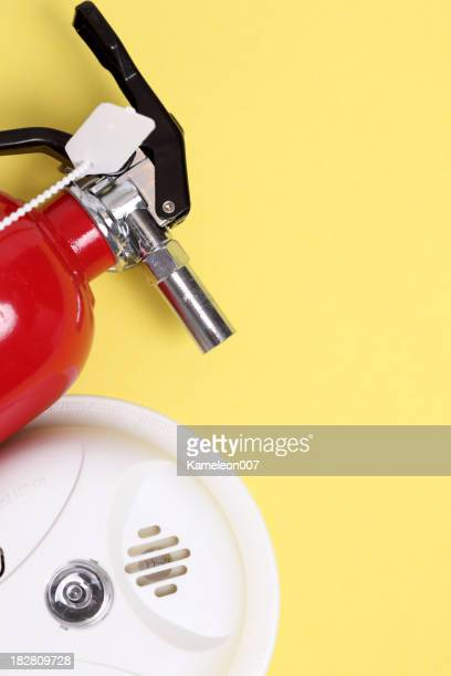 fire extinguisher and smoke alarm