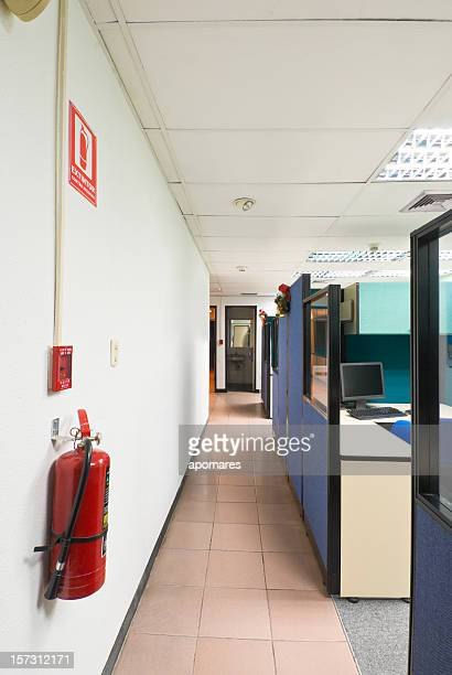Fire Extinguisher in a office environment