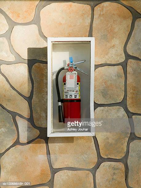 Fire extinguisher in case