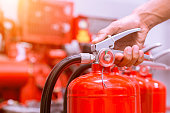fire extinguishers available in fire emergencies.