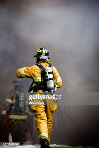 Fire Fighter Rushing In