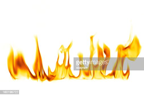 fire flame isolated over white background