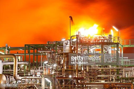 Fire In A Refinery