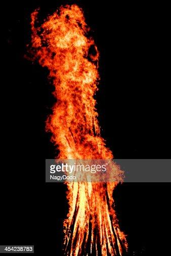 fire on black background : Stock Photo