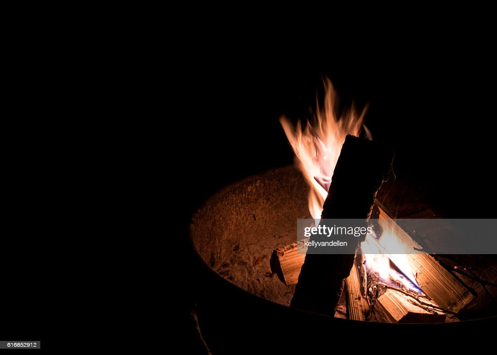 Fire Pit Flames : Stock Photo