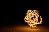 Fire Poi Trails