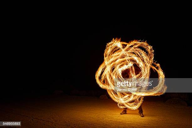 Fire Poi Trails