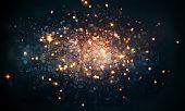fire sparkles bokeh background