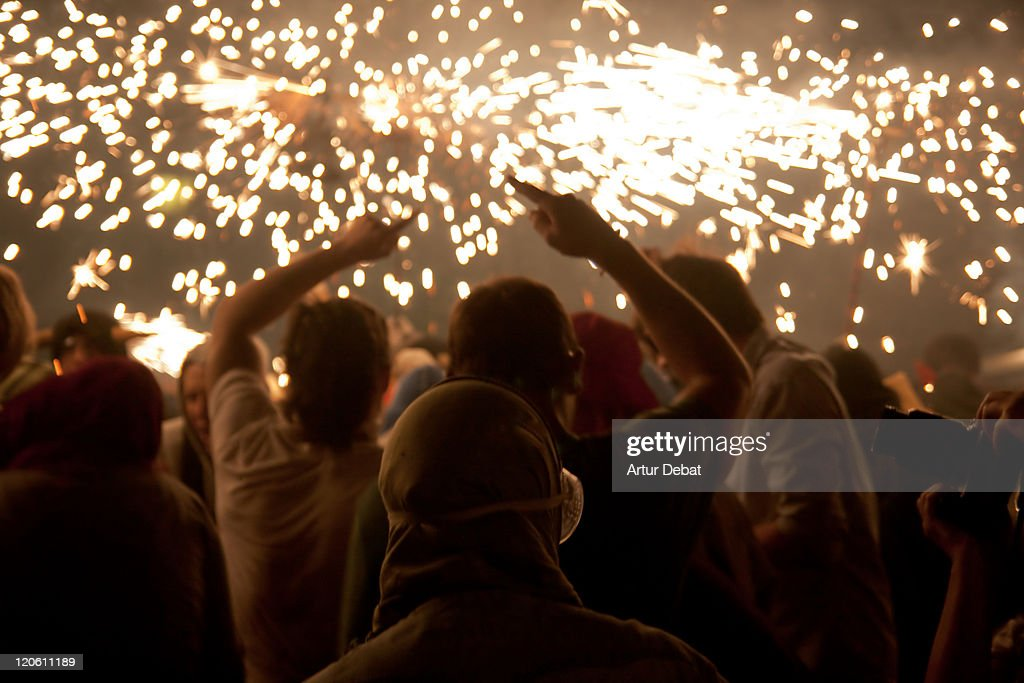 Fire sparkly : Stock Photo