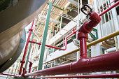 Fire sprinkler in petrochemical plant.