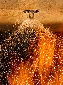 Fire Sprinkler Spraying