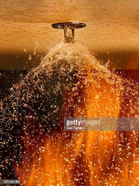Fire Sprinkler Spraying