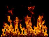 Fire, tall flames