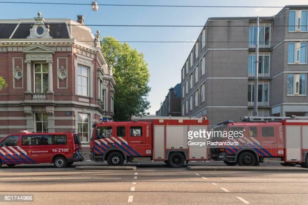 Fire trucks in Amsterdam, Netherlands
