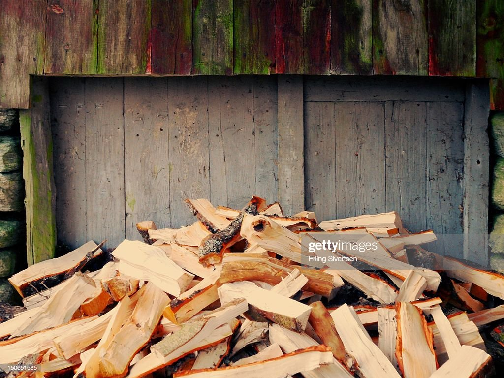 Fire wood stack : Stock Photo
