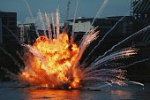 Exploding, Bomb, Fire- Natural Phenomenon, Fireball, Smoke - Physical Structure