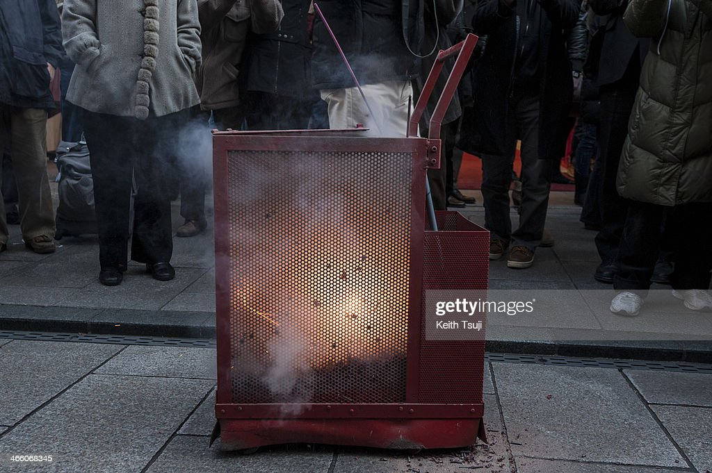 Firecrackers are ignited inside a tank in the Yokohama China Town on January 31, 2014 in Yokohama, Japan. It's the Lunar New Year and Year of the Horse, Chinese New Year is an important traditional Chinese holiday and it is celebrated worldwide within the Chinese community.