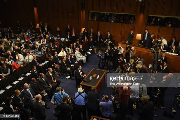 Fired FBI Director James B Comey arrives on Capitol Hill in Washington DC June 8 to testify before the Senate Select Committee