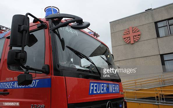 A fireengine stands in front of a house with a workshop for handicapped people in Titisee Neustadt southern Germany on November 26 2012 Fourteen...