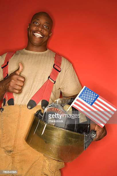 Firefighter giving thumbs-up