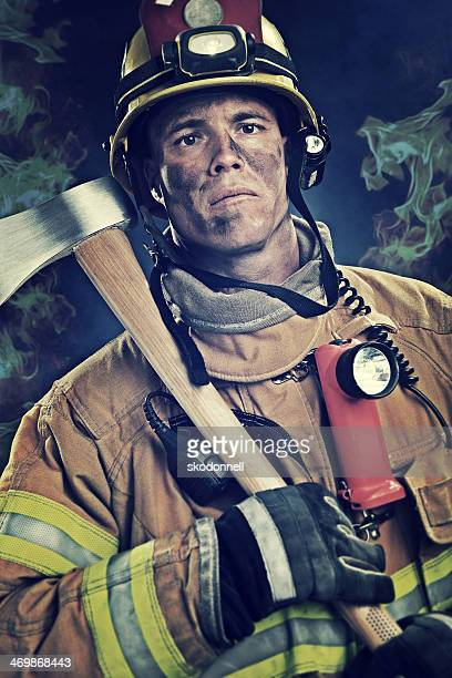 Firefighter in the Smoke