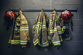 firefighter protection clothe and respiratory mask