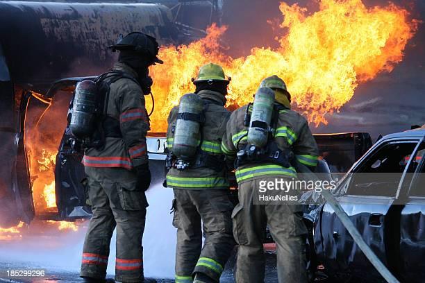 Feuerwehrmann-Team