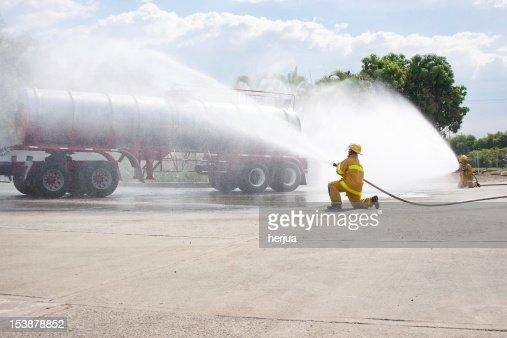 Feuerwehrmann Training : Stock-Foto