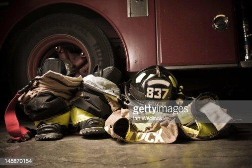 Firefighter Turnout bunker gear : Stock Photo