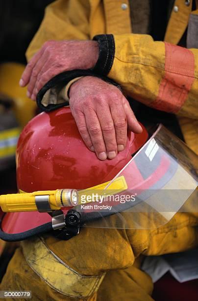 Firefighter With Helmet